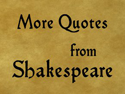 Quotes from Shakespeare