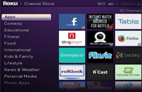 Roku Channel Store Categories Updated
