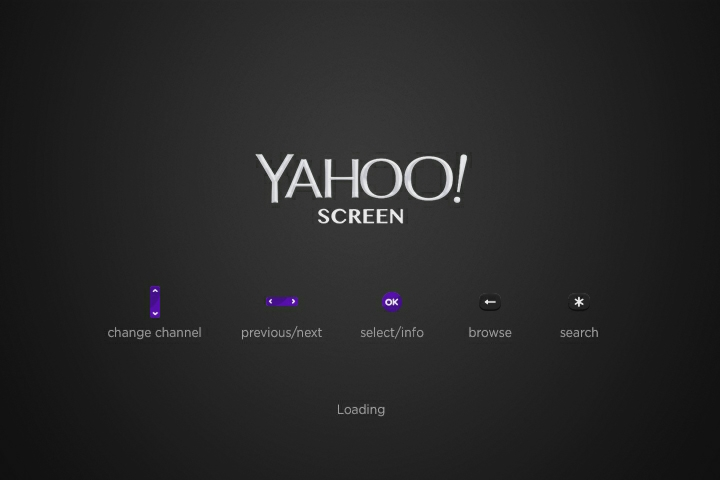 Yahoo Screen navigation buttons