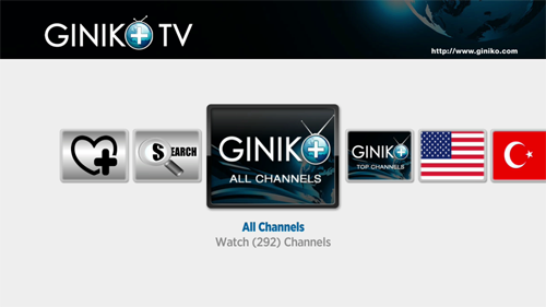Giniko Plus TV Private Roku Channel Screenshot 1