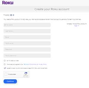 No credit card required for Roku activation