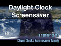 Daylight Clock Screensaver