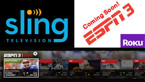 Sling TV adding ESPN3, personalized user interface
