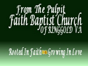 From The Pulpit-FBC Ringgold