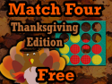 Match Four Free Thanksgiving
