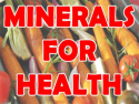 Minerals for Health