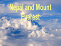 Nepal and Mount Everest