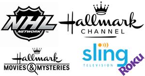 NHL Network and Hallmark Channel on Roku