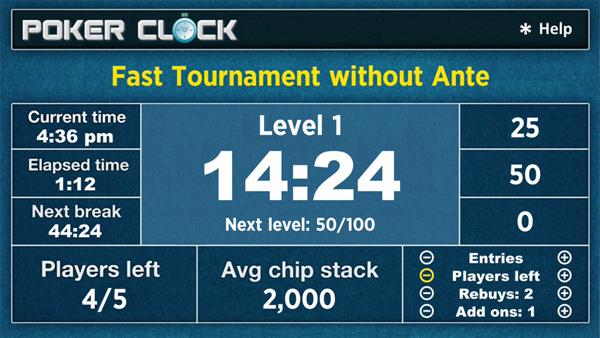 Poker Clock Roku Screenshot