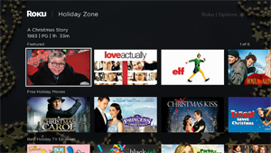 Roku Holiday Zone delivers a curated collection of Christmas entertainment