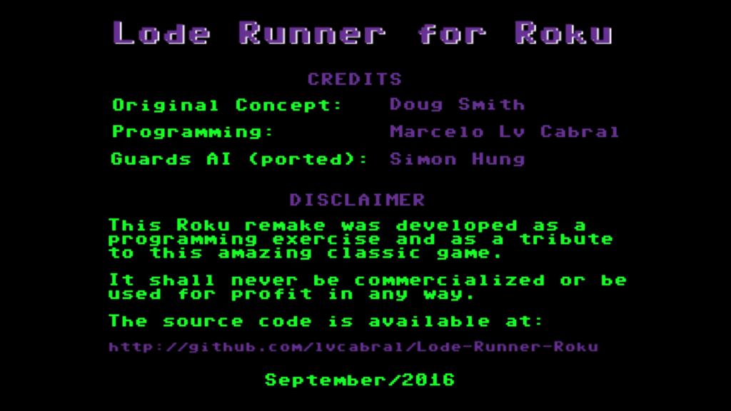 Lode Runner Remake for Roku | Roku Guide