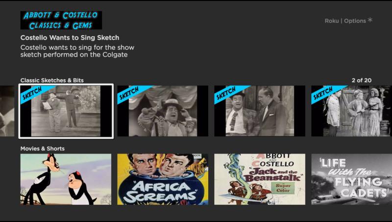 Abbott Costello Classics On Roku