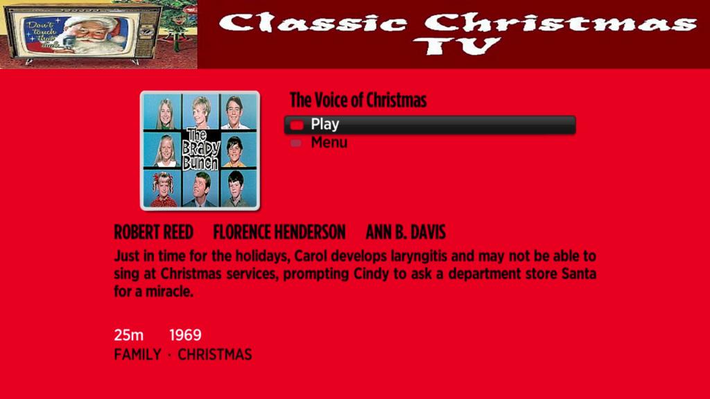 Classic Christmas TV   Roku Guide