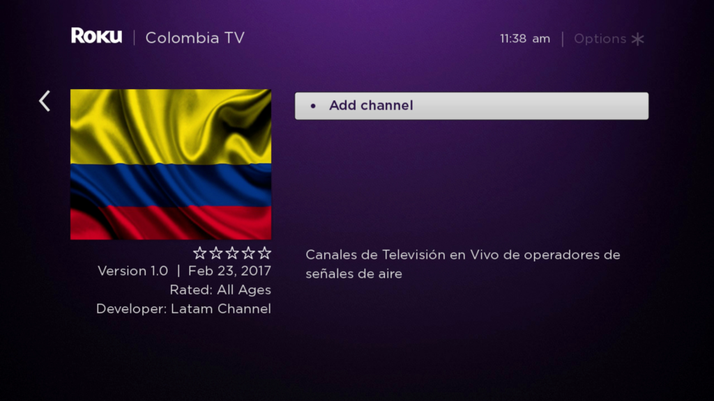 Colombia TV | Roku Guide