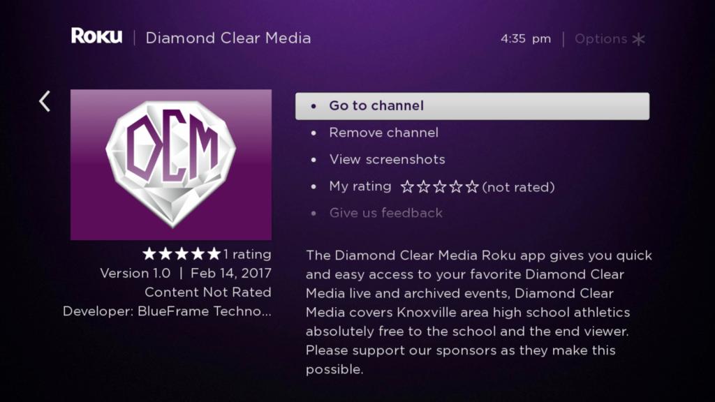 Diamond Clear Media Roku Guide