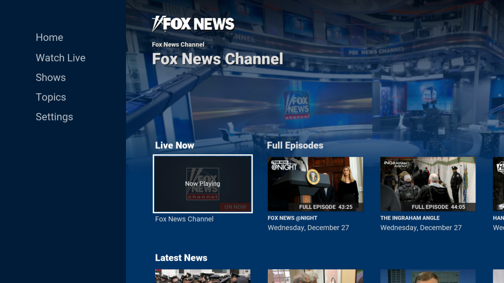 Fox News Channel Roku Guide