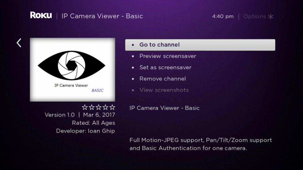 IP Camera Viewer - Pro | Roku Guide