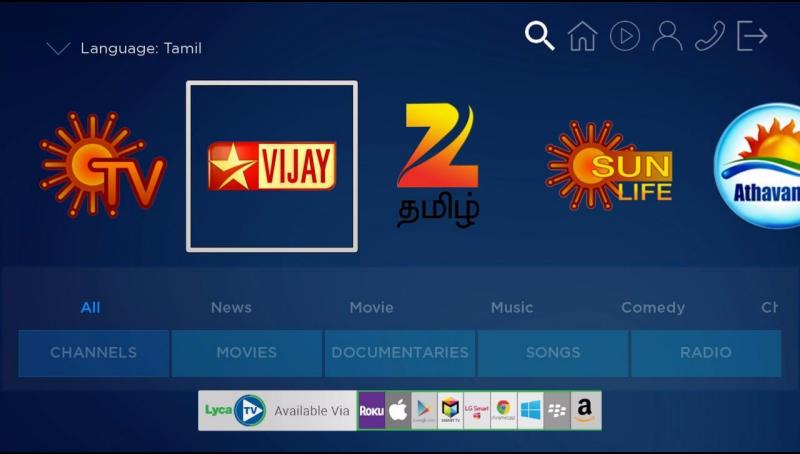 Tamil channel on roku