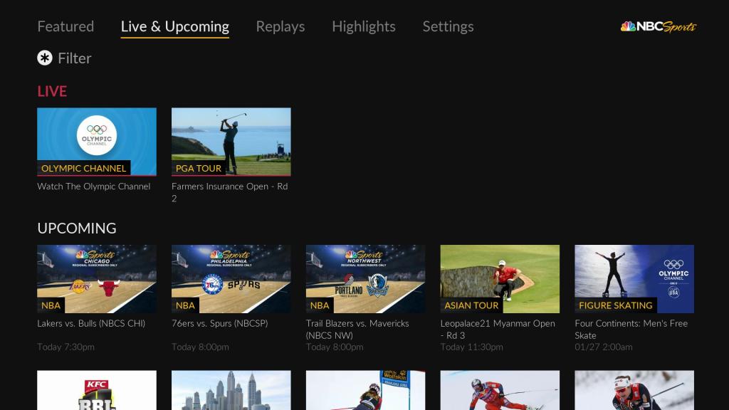 NBC Sports | Roku Guide