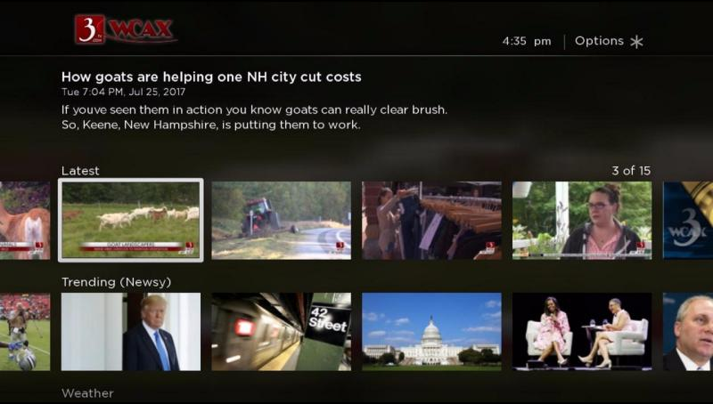 WCAX Channel 3 News | Roku Guide
