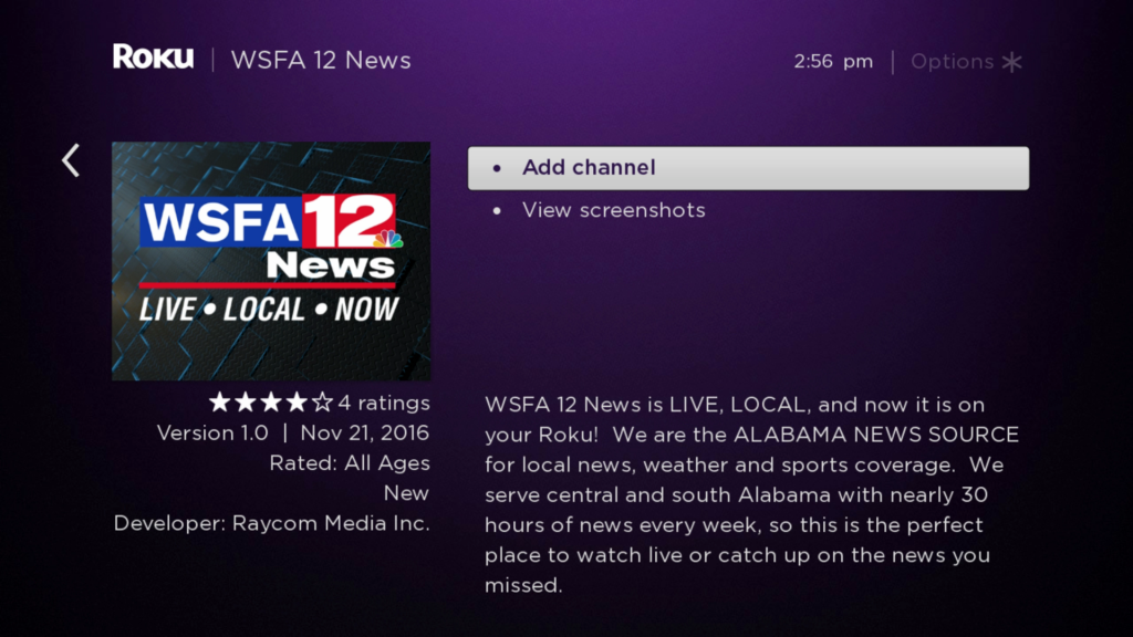 WSFA 12 News | Roku Guide