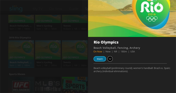 Watching the 2016 Summer Olympics on Sling TV | Roku Guide